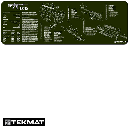 Ar 15 Olive Drab Tekmat Gun Cleaning Pad With Exploded