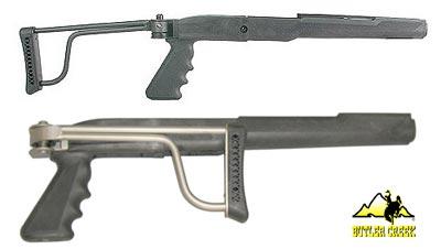* Ruger Mini 14 Mini 30 Folding Stock - Blued - Butler Creek Bushnell