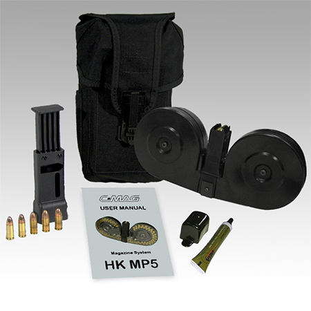 Beta Mp5 C Mag Complete System Black With Black Pouch