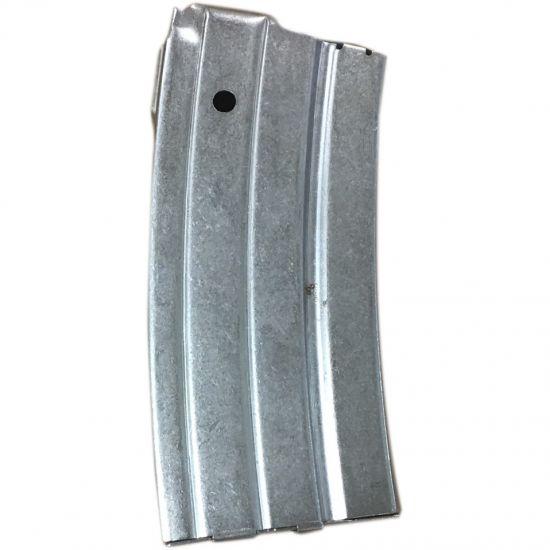 Mini 14 223 Remington 20 Round Steel Magazine - Nickel - John Masen