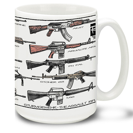 Assault Rifles Weapons Of The World Coffee Cup Mug