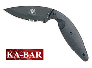 Large Kabar Tdi Law Enforcement Knife Serrated Edge Ka Bar