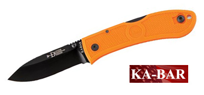 Dozier Folding Hunter Knife Blaze Orange Kabar