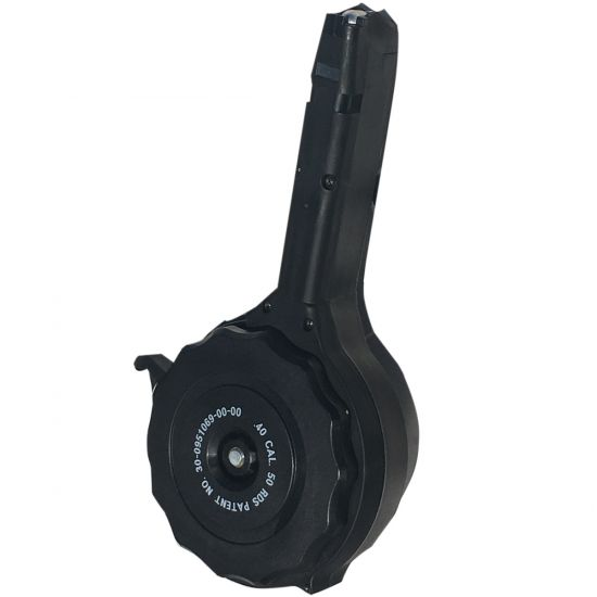 50 Round Drum Magazine For The Glock 40 Cal Red White Blue