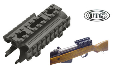 sks tri rail tactical receiver cover scope mount leapers utg