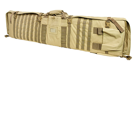 Rifle Case Shooting Mat With Backpack Straps Tan