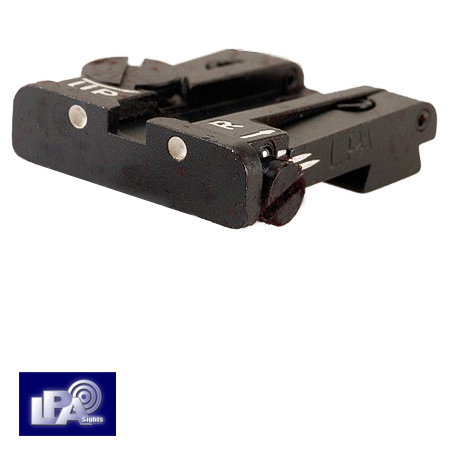 Adjustable Rear Sight For Glock 17 23 25 32 34 35 Twin Dot