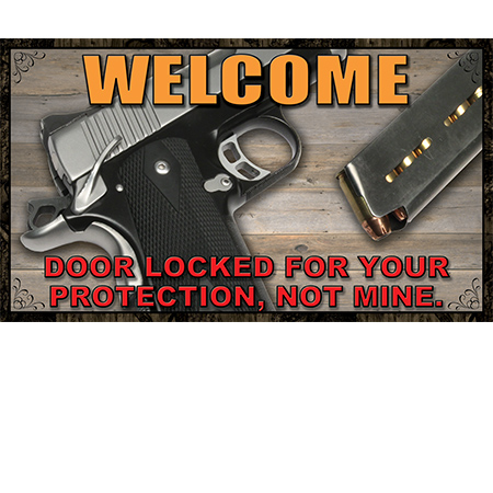 This Door Is Locked For Your Protection Welcome Door Mat