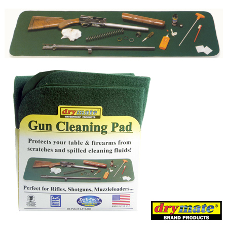 Gun Cleaning Pad Waterproof Table Mat Large 16x54 Green