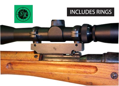 Japanese Arisaka (99) 7 7 Mauser Scout Scope Mount - Includes Rings - S&K