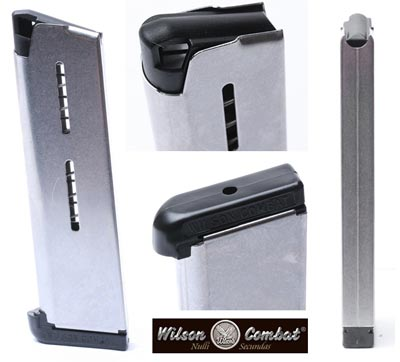 1911 Full Size Magazine - 8 Round Extended  45 ACP Stainless - Wilson